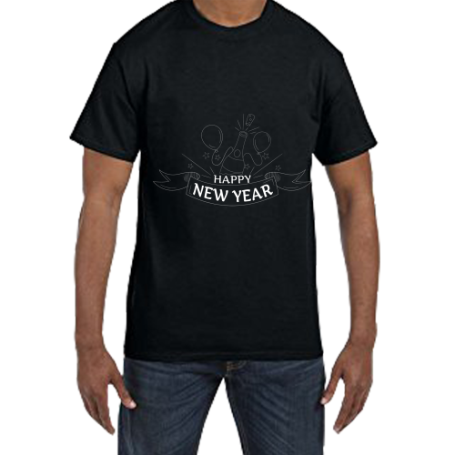 Fantaboy Happy New Year End of The Year Printed T-shirt