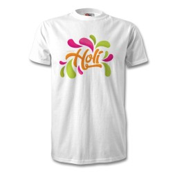 Fantaboy  Happy Holi Color Splash Half Sleeve Casual Printed T Shirt