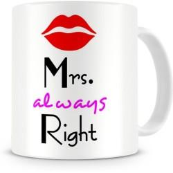 Fantaboy Mr. Mrs. Right Couples Ceramic Coffee Mug