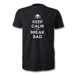 Fantaboy Keep Calm And Break Bad Printed T-Shirt