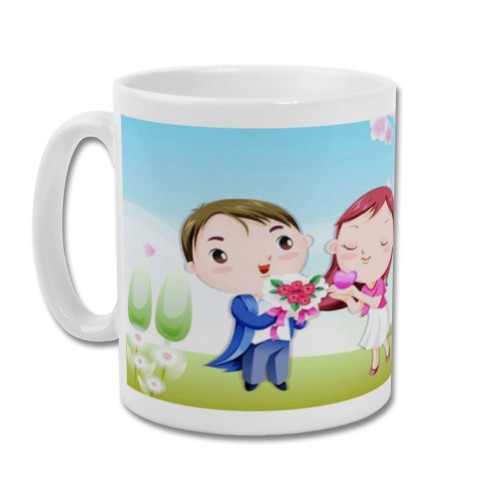 Fantaboy Cartoon couple Valentine Printed Coffee Mug