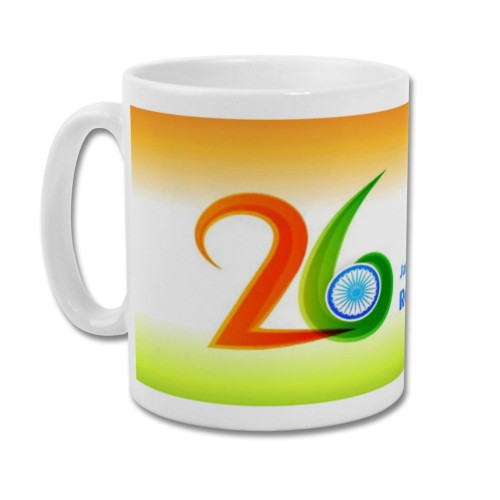 Fantaboy Tricolored 26 Republic Day printed Coffee Mug