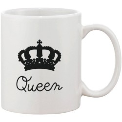 Fantaboy King and Queen Crown Matching Couple Ceramic Mug