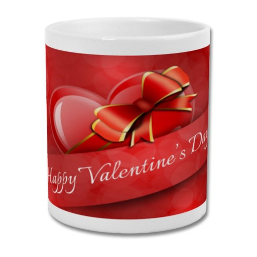 Fantaboy Simple Valentine banner printed coffee Mug
