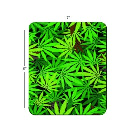 Fantaboy Mix Green Leaf Print Mouse Pad