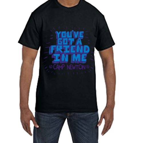 Fantaboy You 've  Got a Friend Me Camp Newton Printed T-shirt