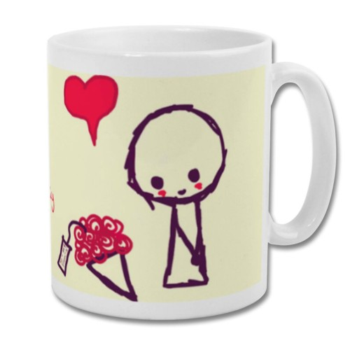 Fantaboy Valentine Bouquet printed Coffee Mug