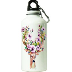 Fantaboy Stag Head With Flower Printed Sipper Bottle (7x7 Inch)