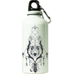 Fantaboy  Draw Wolf Totems  Printed Sipper Bottle (7x7 Inch)