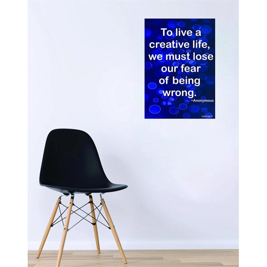 """Fantaboy  """"To live a Creative Life"""" Motivational Printed Poster (12 x 18)"""