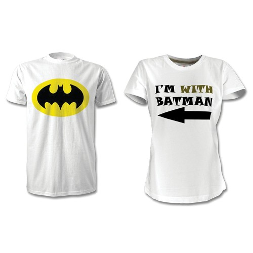 Fantaboy  I'm with Batman Combo Printed T-Shirt