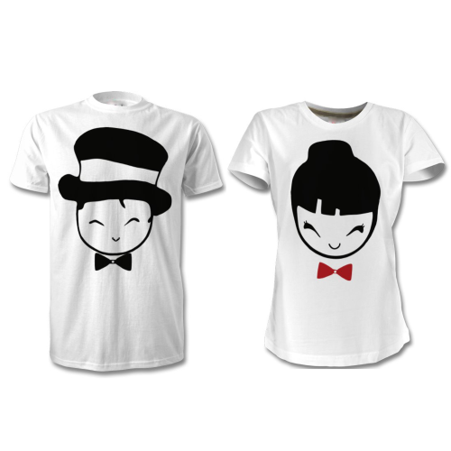 Fantaboy Cute Couples' printed T-Shirt