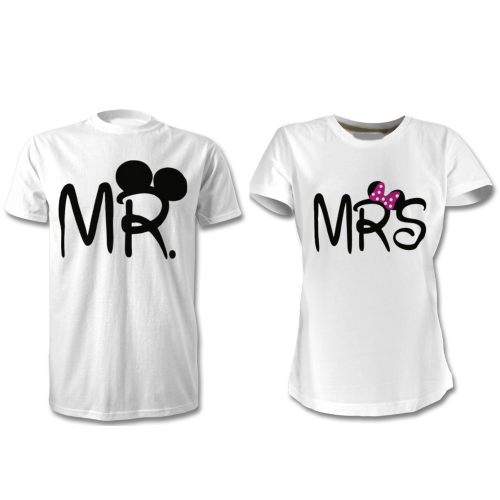 Fantaboy Mr. and Mrs. Mickey and Miney printed T-Shirt
