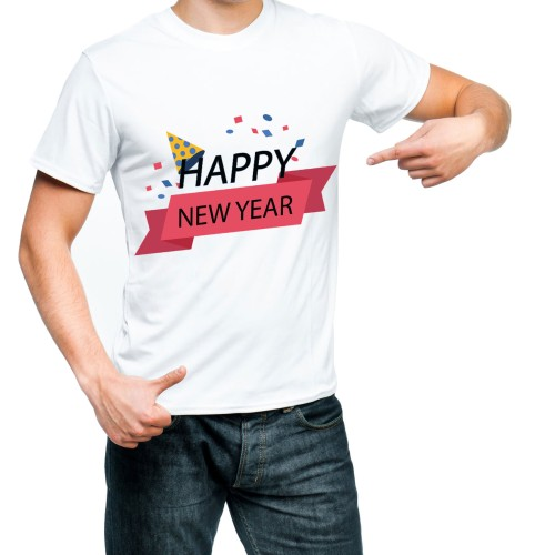 Fantaboy Happy New Year Printed T- shirt