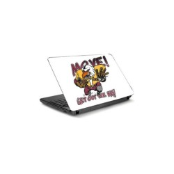 Fantaboy Move ! Get Out The Way Printed Laptop Decal