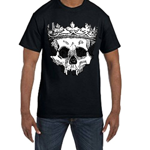 Fantaboy Skull Crown Printed T-shirt