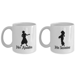 Fantaboy Aladdin and Jasmine Couple Coffee Mugs - Perfect Gift for Couples