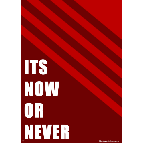 Fantaboy Its Now Or Never Printed Poster (12 x 18)
