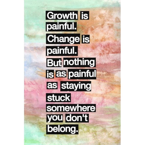 "Fantaboy Growth is… Introspectional Quote Poster(12""x""18)"