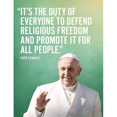 "Fantaboy Religious Freedom Realizational Quote Poster (12""x""18)"