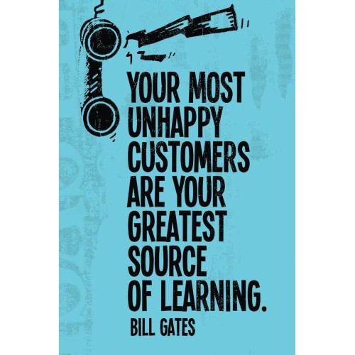 "Fantaboy Bill Gates's Quote Poster (12""x""18)"