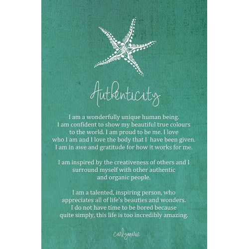 "Fantaboy Authencity Quote Poster (12""x""18)"
