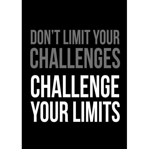 "Fantaboy Don't Limit … Motivational Quote Poster (12""x""18)"
