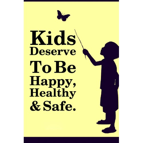 "Fantaboy Kid's Rights Quote Poster (12""x""18)"