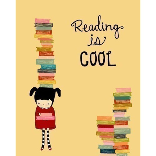"Fantaboy Reading is Cool Quote Poster (12""x""18)"