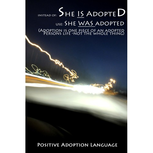 "Fantaboy Adoption Awareness Quote Poster (12""x""18)"
