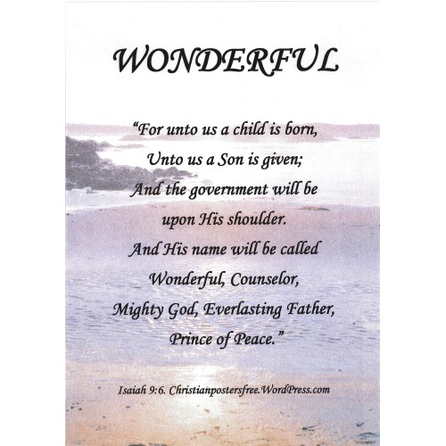 "Fantaboy Wonderful Bible Quote Poster (12""x""18)"