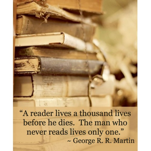 """Fantaboy George Martin's  For Books Quote Poster (12""""x""""18)"""