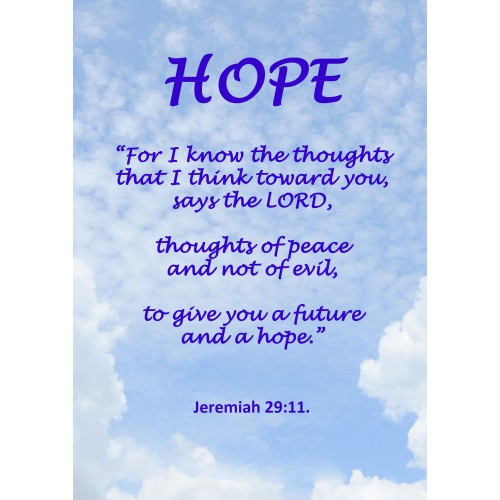 """Fantaboy Hope Bible Quote Poster (12""""x""""18)"""