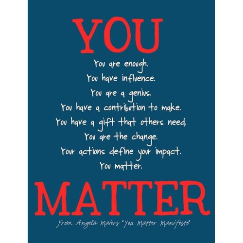 "Fantaboy You matter Manifesto Quote Poster  (12""x""18)"