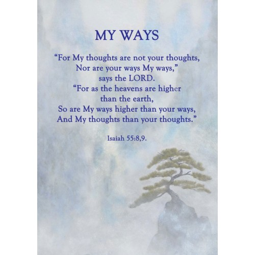 """Fantaboy My Ways' Bible Quote Poster (12""""x""""18)"""