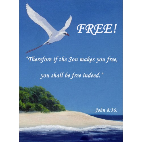 "Fantaboy Free' Bible Quote Poster (12""x""18)"