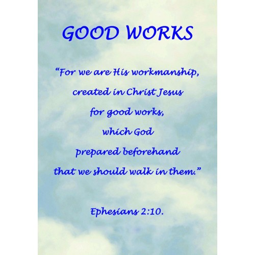 "Fantaboy Good Works' Bible Quote Poster (12""x""18)"