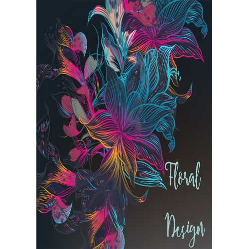 """Fantaboy Beautiful Floral Design Quote Poster (12""""x""""18)"""