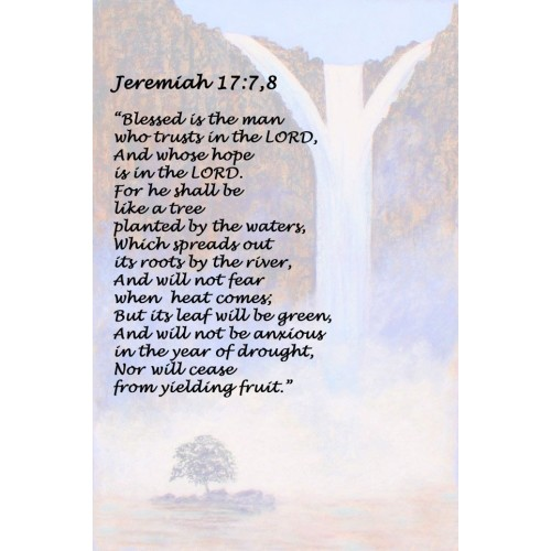 "Fantaboy Bible Poem Quote Poster (12""x""18)"