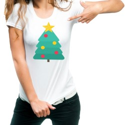 Fantaboy Christmas Tree Printed T-Shirt