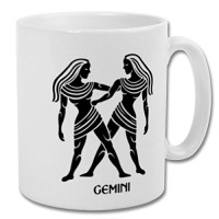 Fantaboy  Gemini Zodiac Sign Printed Coffee Mug