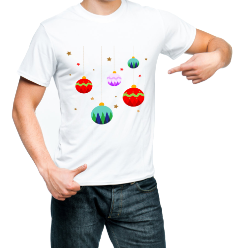 Fantaboy Christmas Ball Printed T-shirt