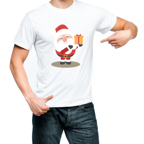 Fantaboy  Santa Claus Merry Christmas Printed T-shirt