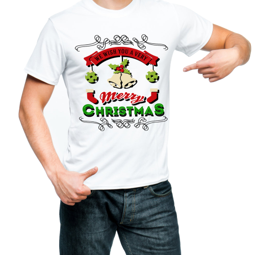 Fantaboy Wish You A Merry Christmas Happy New Year Printed T-shirt