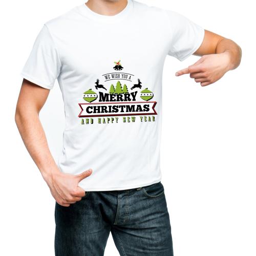 Fantaboy We Wish You a Merry Christmas Printed T-shirt