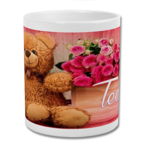 Fantaboy Valentine Day Teddy Bear Day Printed Coffee Mug