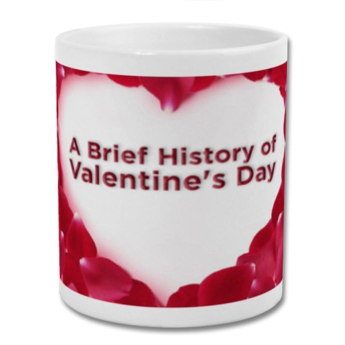Fantaboy  Rose Heart Shape Printed Coffee Mug