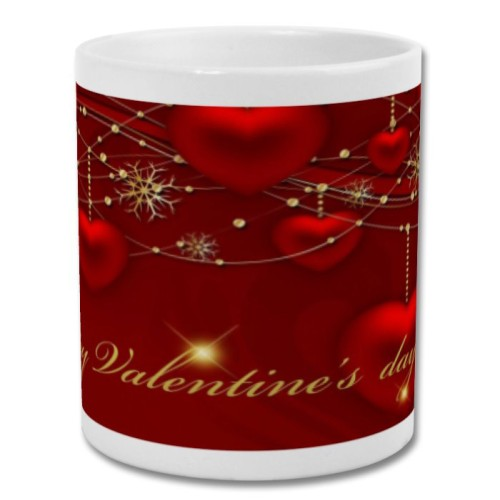 Fantaboy Valium Heart Shape Red Valentine Day Printed Coffee Mug