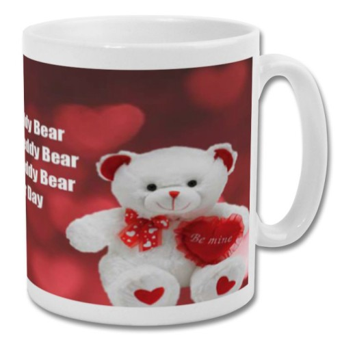 Fantaboy Valentine Day  Teddy Bear Lovely Quotes Messages Printed Coffee Mug