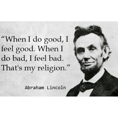 "Fantaboy Abraham Lincoln's Motivational Quote Print Poster (12""x18"")"